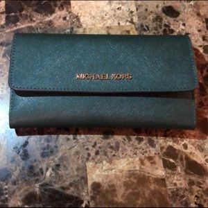 Michael Kors JST Trifold Racing Green Wallet